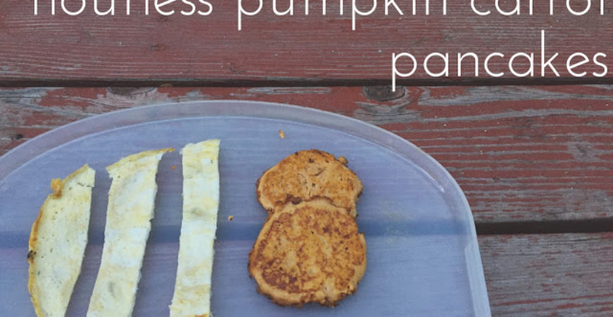 Flourless Pumpkin Carrot Pancakes