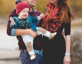 Fall Baby Wearing Photo Shoot