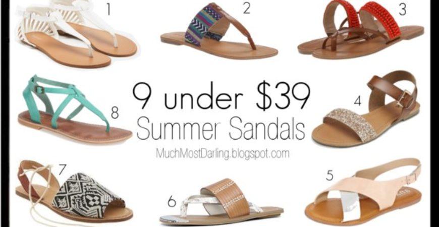 9 Summer Sandals under $39