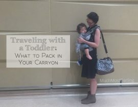 What's in my bag: Airplane travel with a toddler