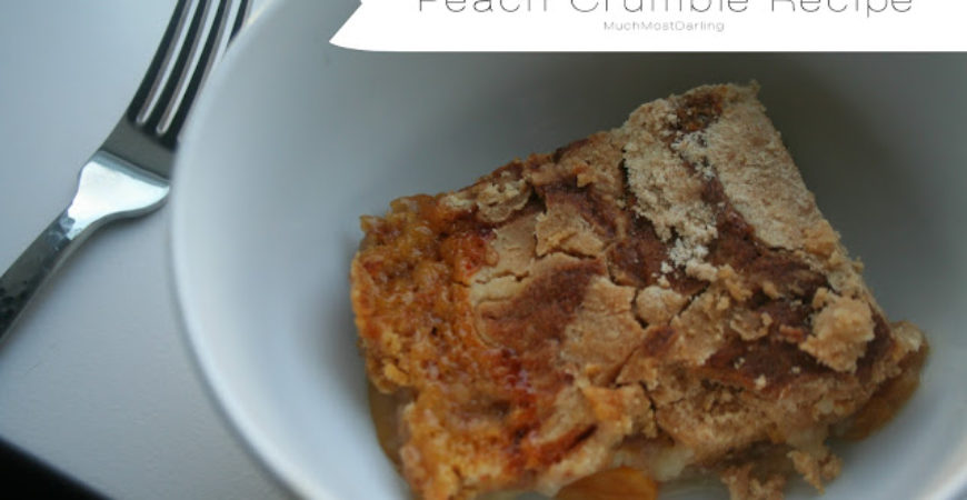 3 Ingredient Peach Crumble