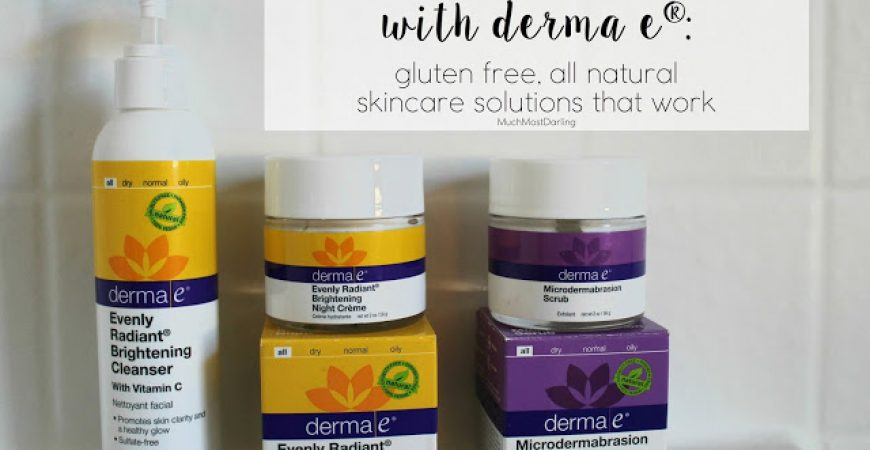 #ICANTWHEAT with derma e: gluten free, all natural skincare solutions that work