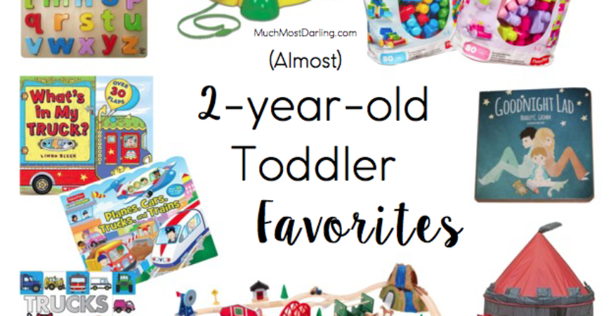 Favorite toys and books for an almost 2 year old toddler