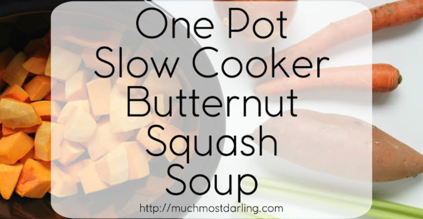 One Pot Slow Cooker Butternut Squash Soup