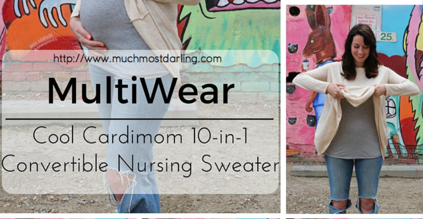 Cardimom: a 10-in-1 convertible nursing sweater and top