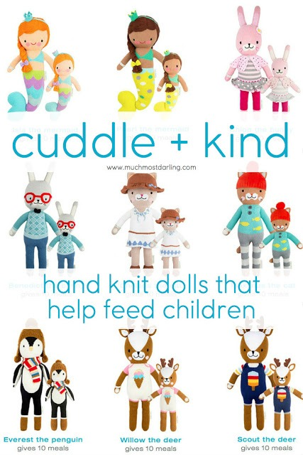 Cuddle and + Kind: hand knit dolls that help feed children