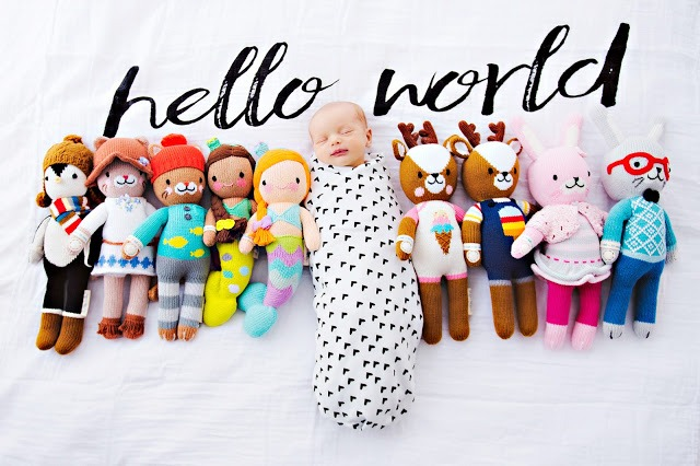 Cuddle and kind little collection Cuddle and + Kind: hand knit dolls that help feed children