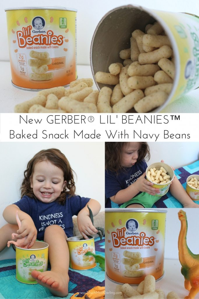 Gerber Lil' Beanies snacks not made with genetically engineered (GM) ingredients clean snacks for toddlers
