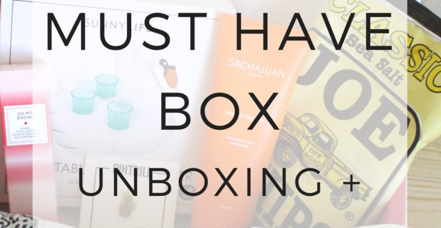 July 2016 PopSugar Must Have Subscription Box Unboxing and Review!
