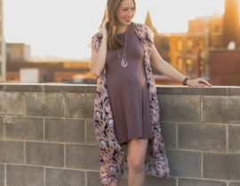 Third Trimester Style: BohoBlu Elaine Swing Dress