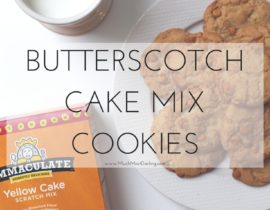 Immaculate Butterscotch Cookie Recipe