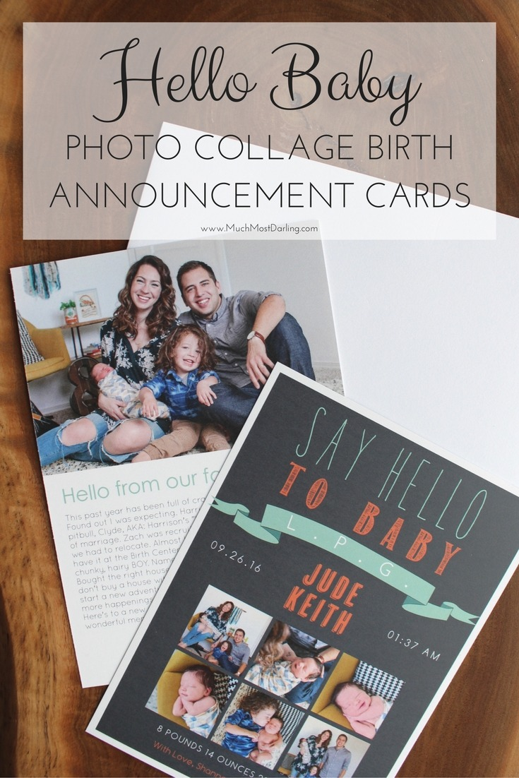 Baby Js Birth Announcement Cards MuchMostDarling – New Years Birth Announcement