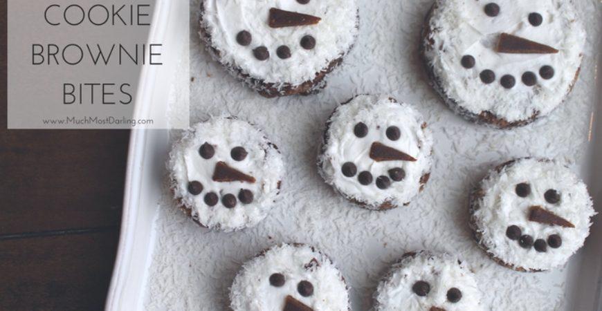 Snowman Brookie Bites Recipe