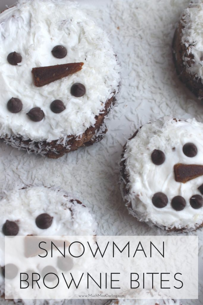 snowman brownie bites recipe