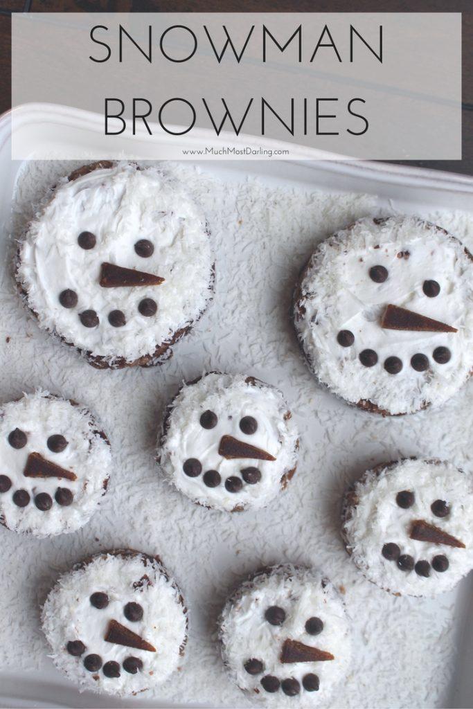 snowman brownie recipe