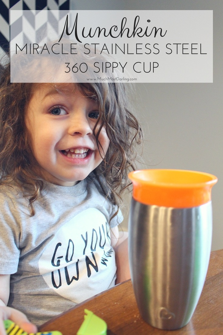 Munchkin Miracle Stainless Steel 360 Sippy Cup 10oz. review