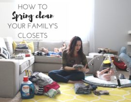 Spring Cleaning Your Family's Closets with Persil
