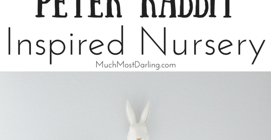 Gender Neutral Gray and White Peter Rabbit Natural Woodland Nursery