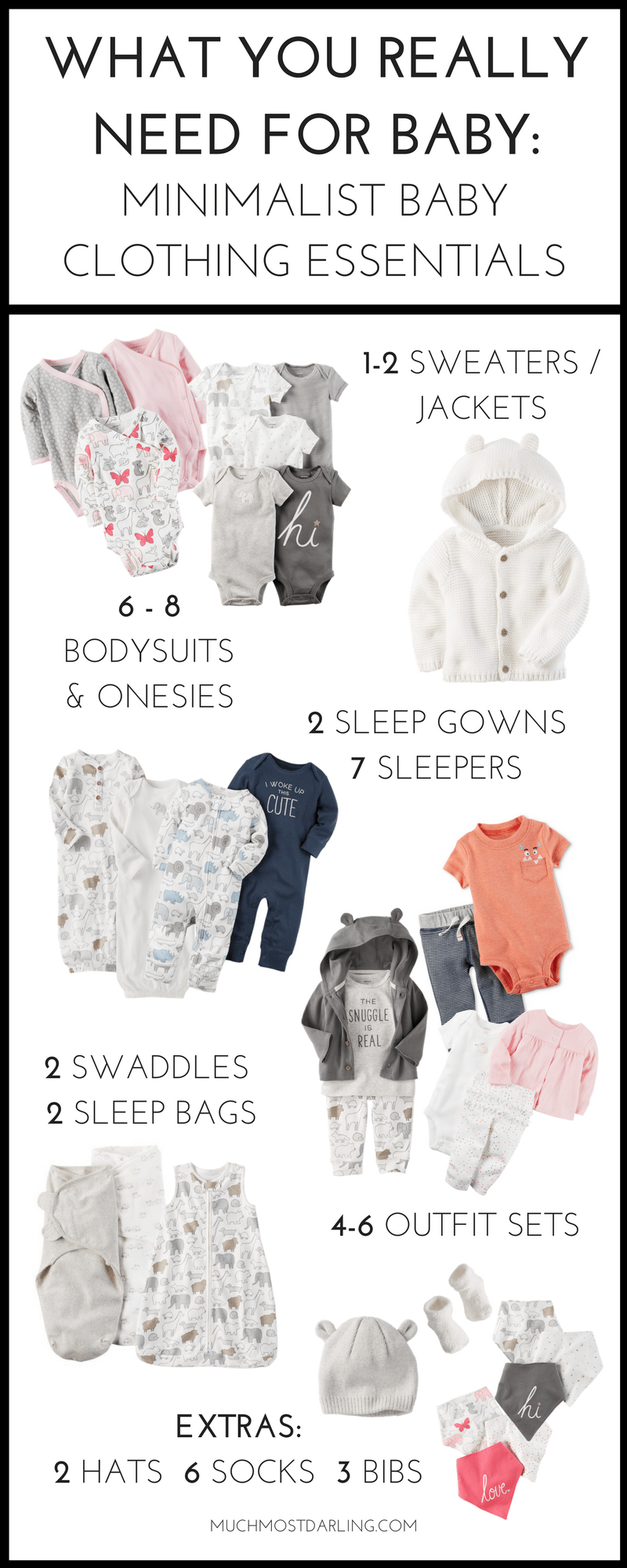 02315bec7 How many baby clothes do I need  My minimalist baby clothing essentials