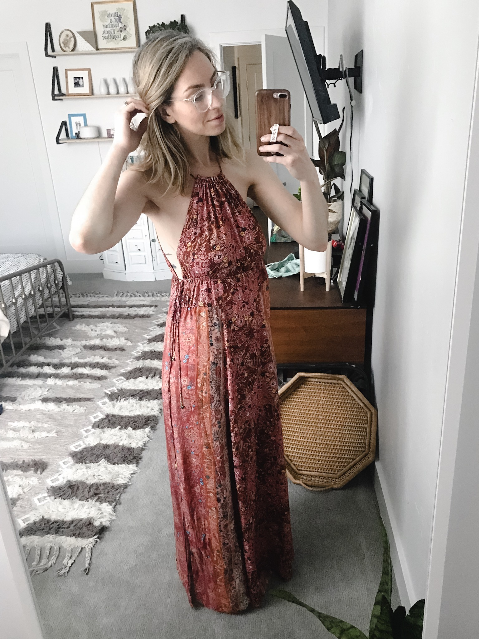 free people boho Celeste Printed Maxi dress