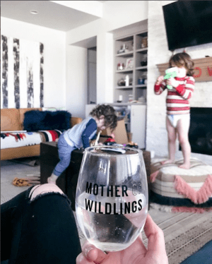 mother of wildlings stemless wine glass game of thrones BGD brittany garner designs