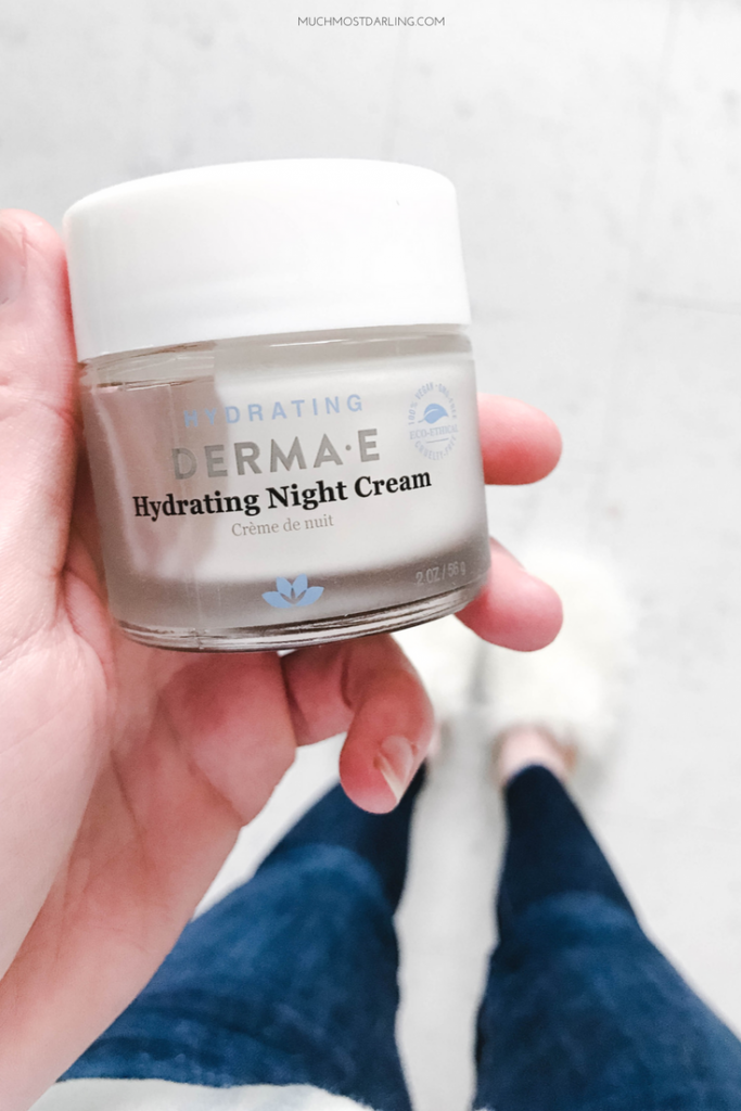 hydrating derma e hydrating night cream best affordable luxury skincare, gluten free vegan cruelty free skin care