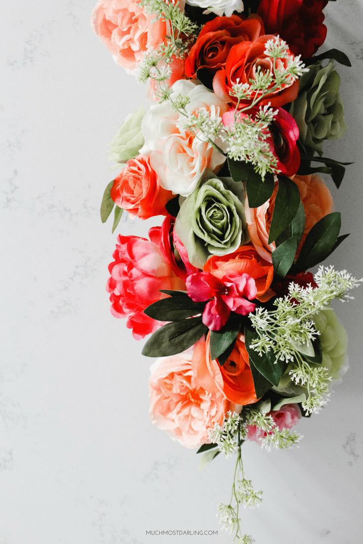 Spring Kitchen Refresh A Diy Floral Island Centerpiece