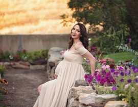 Idaho Flower Garden Maternity Shoot with ELM Photography