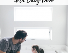 Bath time routine with Baby Dove