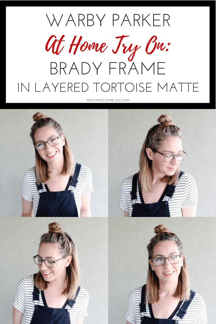 4268685c5f warby parker at home try on Brady frame in layered tortoise matte ...