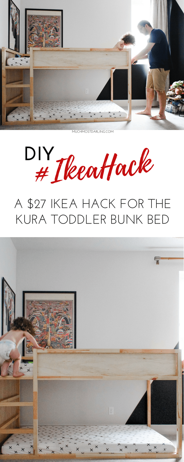 quality design a4102 d2079 DIY Ikea Hack: KURA Toddler Bunk Bed | Much.Most.Darling