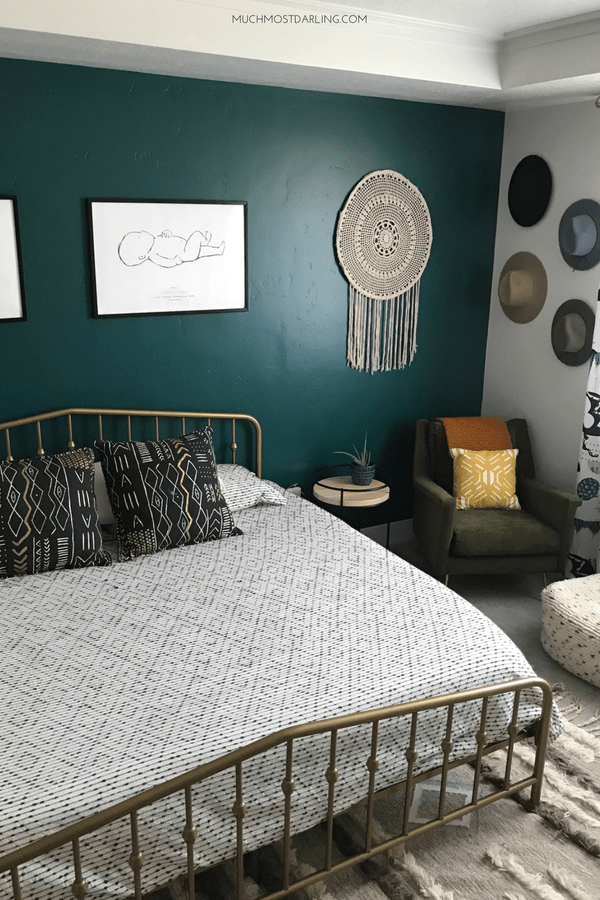 Shop My Midcentury Eclectic Boho Master Bedroom