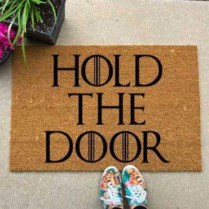 custom hold the door Hodor Game of Thrones welcome door mat