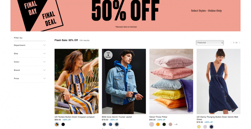 Urban Outfitters 50% off sale – LAST DAY!
