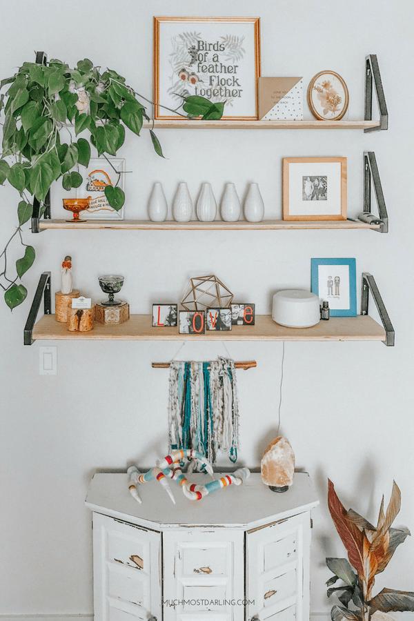DIY EKBY LERBERG Bracket Ikea Hack + Master Bedroom Shelving