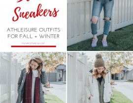 3 Different Ways to Wear Blush Sneakers + Athleisure This Fall + Winter