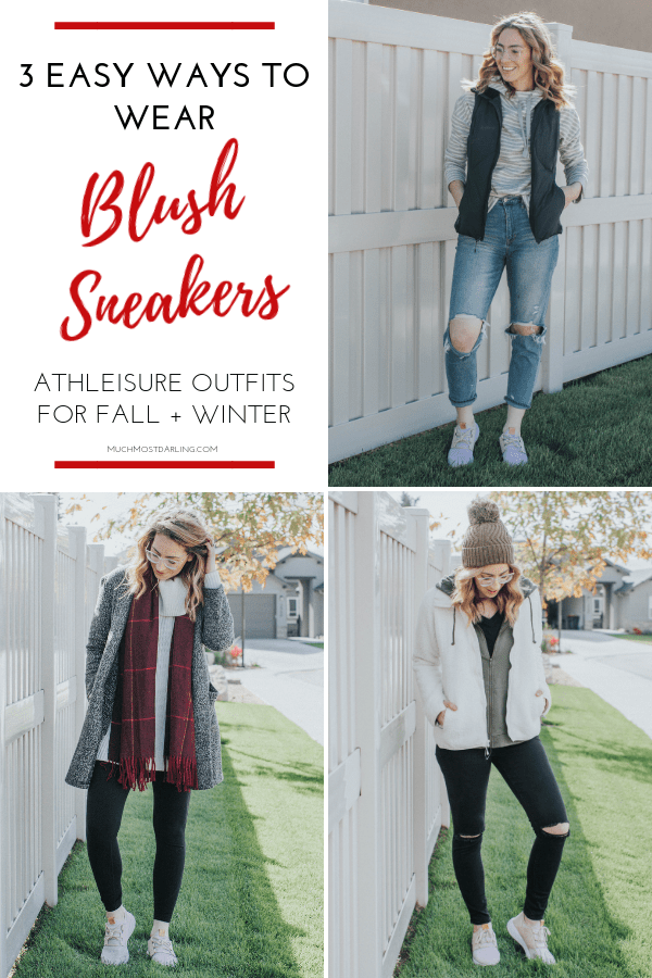 52bd1801e05 3 Different Ways to Wear Blush Sneakers + Athleisure This Fall + Winter