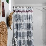 Budget Friendly Boho Guest Bathroom with hansgrohe