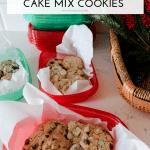 Peppermint Oreo Cake Mix Cookies