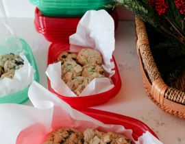 Peppermint Oreo Cake Mix Cookies