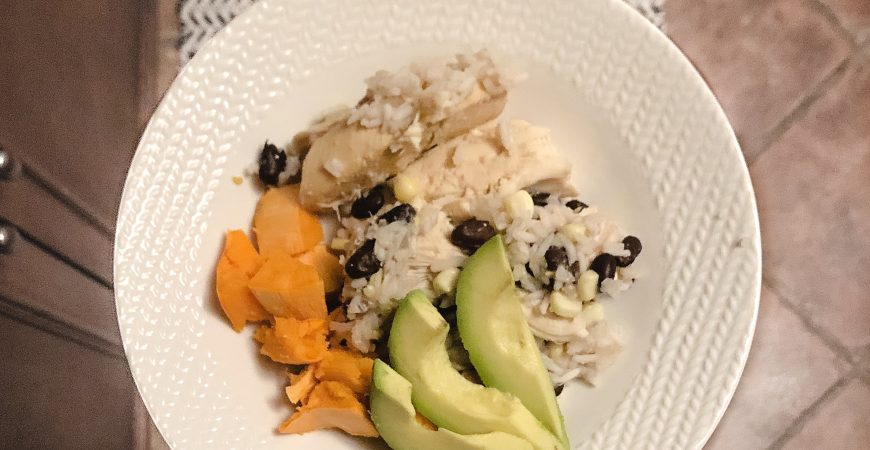 Slow Cooker Chicken + Rice Bowl (Dairy and Gluten Free!)