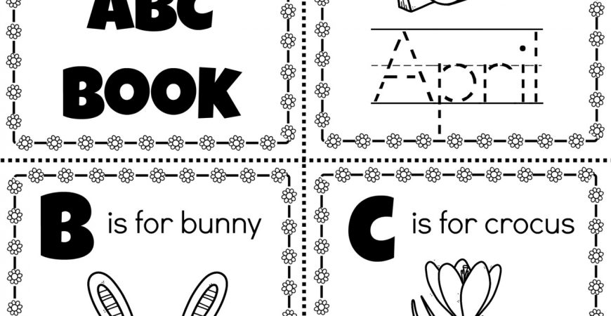 Free Educational Printable: My Spring ABC Book