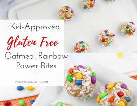 Gluten Free Oatmeal Rainbow Power Bites Recipe