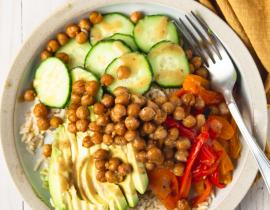 Vegan + Gluten Free Chickpea + Rice Protein Power Bowl