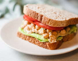 "Vegan Chickpea ""Tuna"" Salad + Sandwich Recipe"