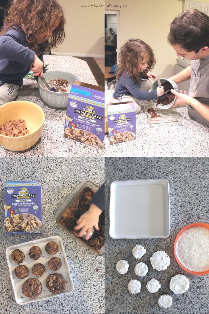 immaculate baking snowman brownie recipe