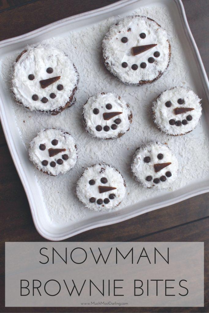 snowman brownie bites recipe