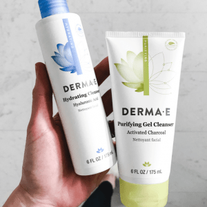 derma e hydrating cleanser purifying gel cleanser best affordable face wash, gluten free, vegan cruelty free skin care beauty