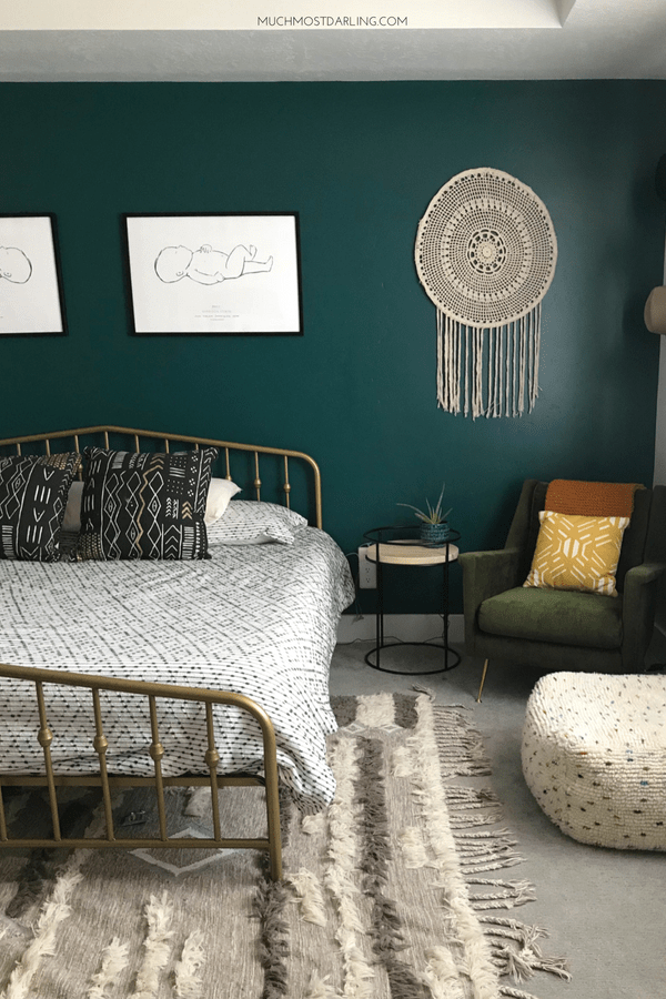 Shop my MidCentury Eclectic Boho Master Bedroom!