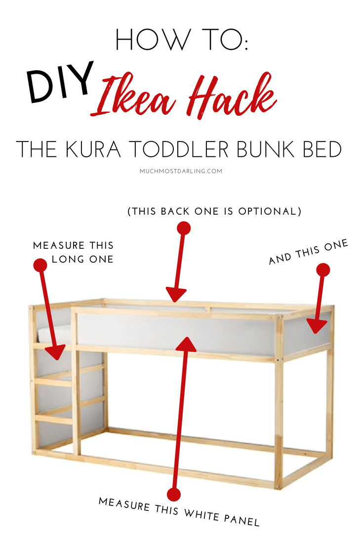 Diy Ikea Hack Kura Toddler Bunk Bed Much Most Darling Realistic And Sustainable Motherhood